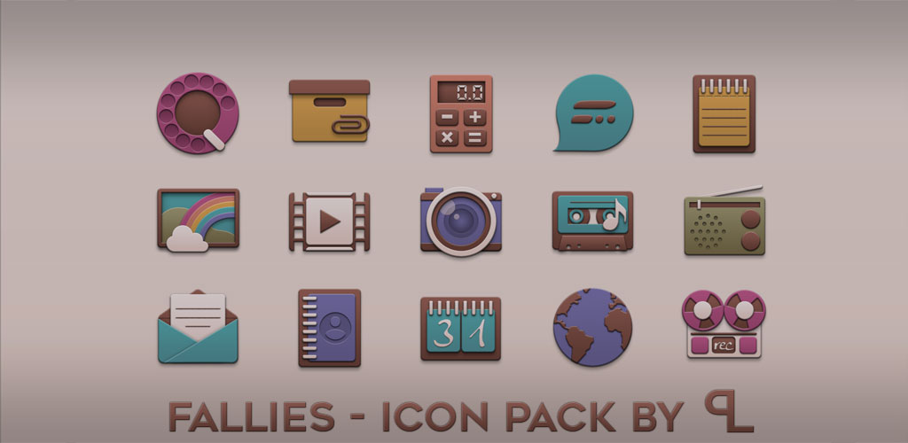 Fallies Icon pack - Chocolate