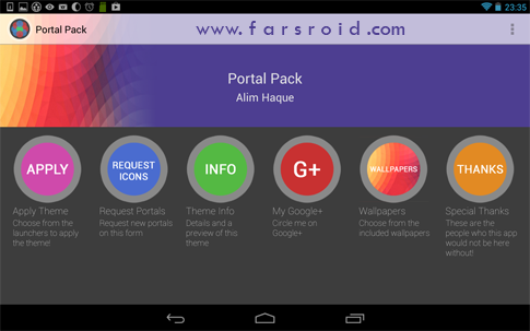 Download Portal Pack: Nova Apex ADW 1.0 - new Android theme!